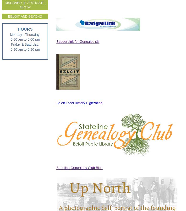 GEN links on BPL homepage