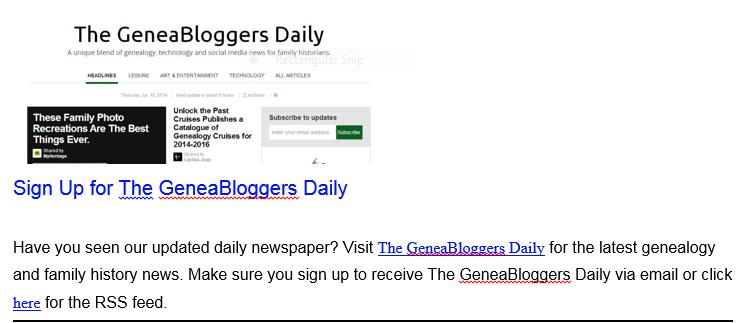GeneaBlogger info