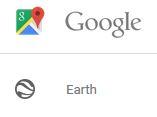 google earth menu