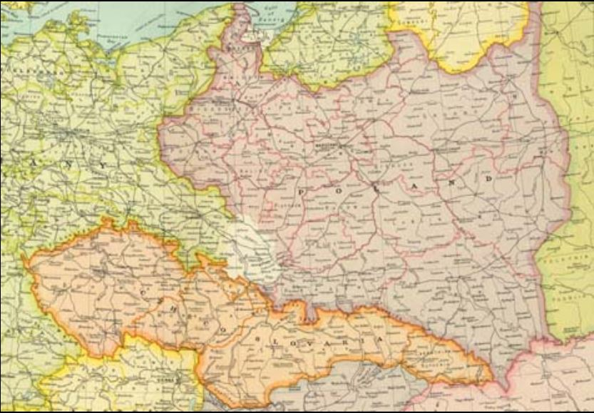 Eastern Europe's borders in 1922