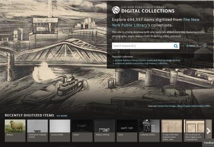 New York Library Digital photos