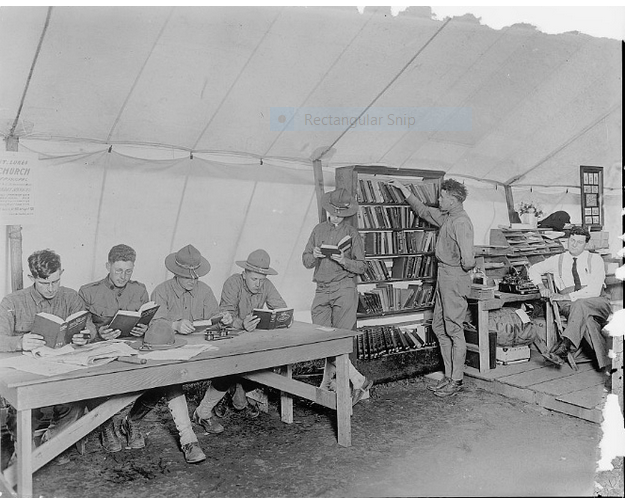 ymca-tent-library