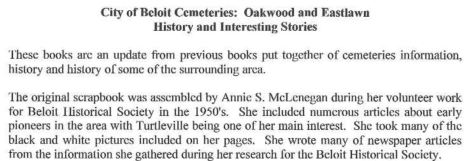 Oakwood Cemetery Anne McLenegan book