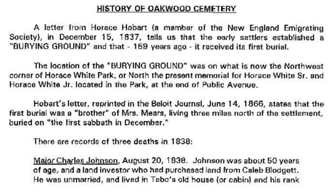 Oakwood Cemetery tour Bill Bolgrien 2